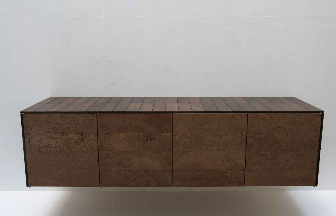 cork furniture. The Repetitive Use Of Parquet Blocks And Cork, Highlight Subtle Striking Changes Grain Figure In Both Materials. Cork Furniture