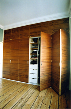 teak veneer with walnut detail